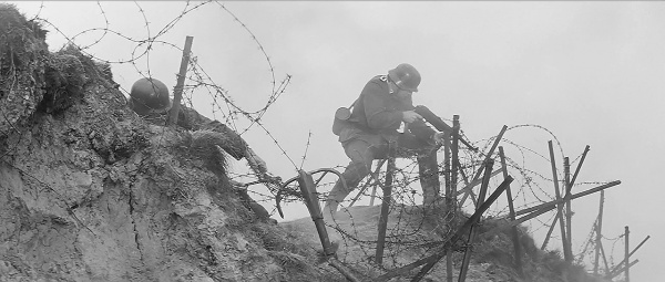 Día D defenso alemanes en Pointe-du-Hoc
